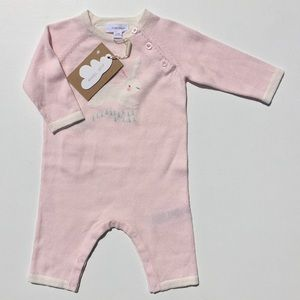 Angel Dear Bunny Knit Pink Coverall 0-3M, 3-6M